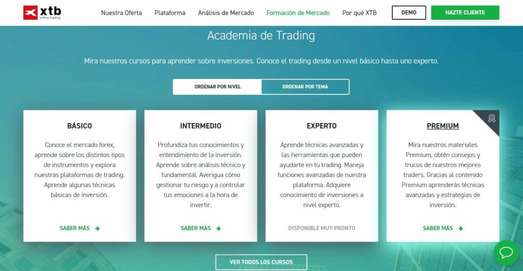 Descubre la academia de trading de xtb