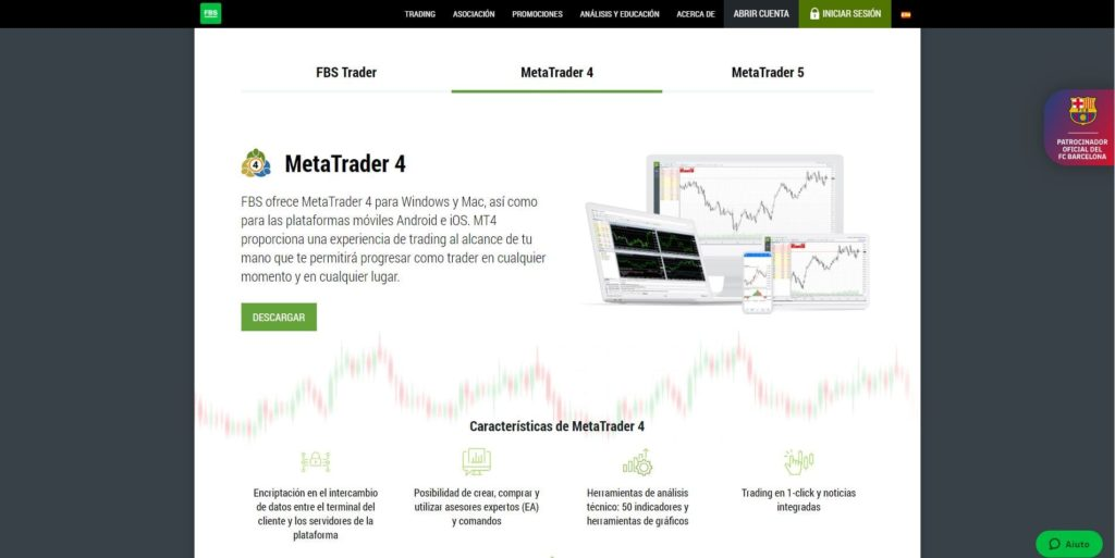 características de la plataforma mt4 de fbs