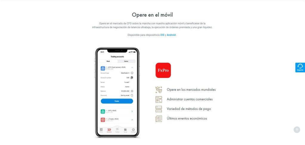 plataforma móvil de fxpro