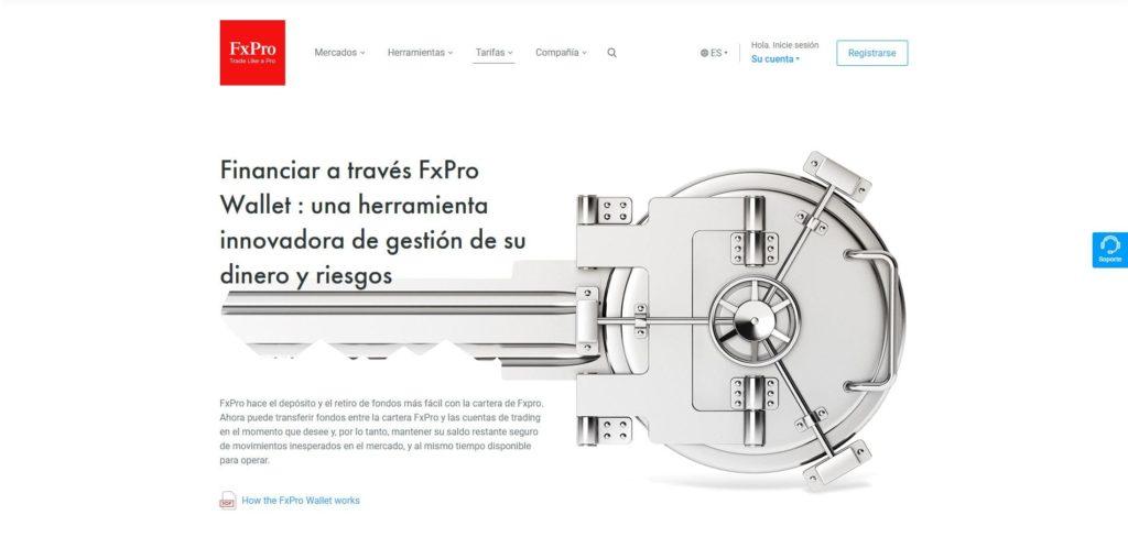 fxpro wallet características