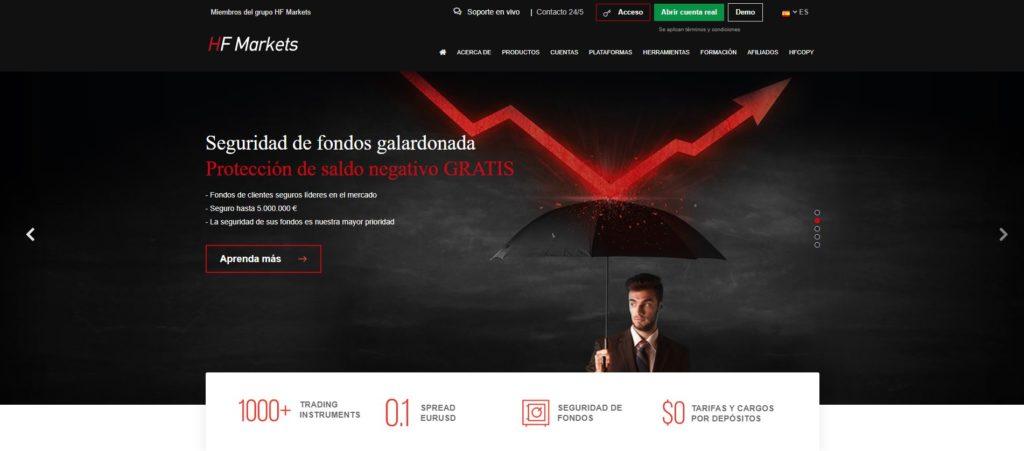 la homepage de hotforex