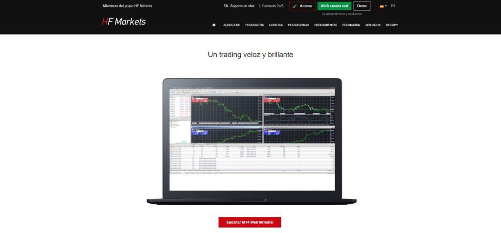 hotforex características de la plataforma mt4 webterminal