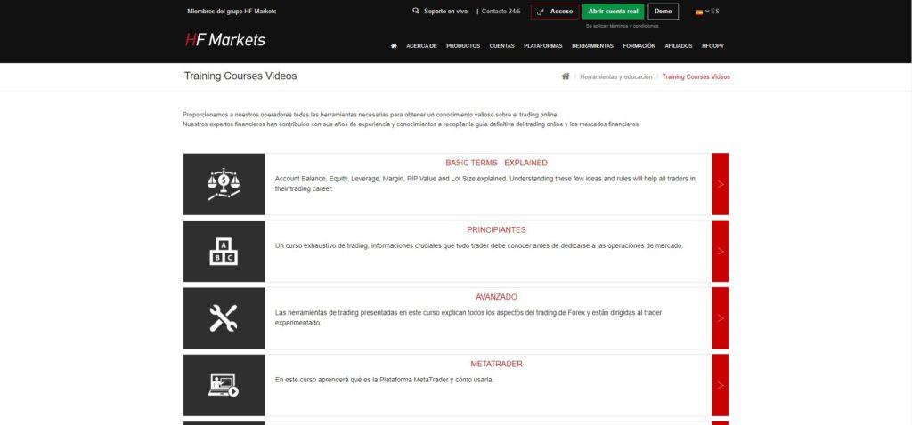 hotforex sección videos de entrenamiento