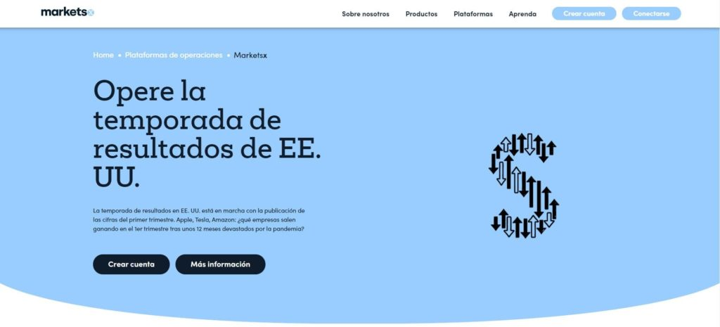 cuenta MarketsX de markets.com