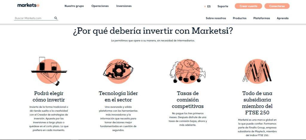 caracteristicas de la cuenta MarketsI de markets.com