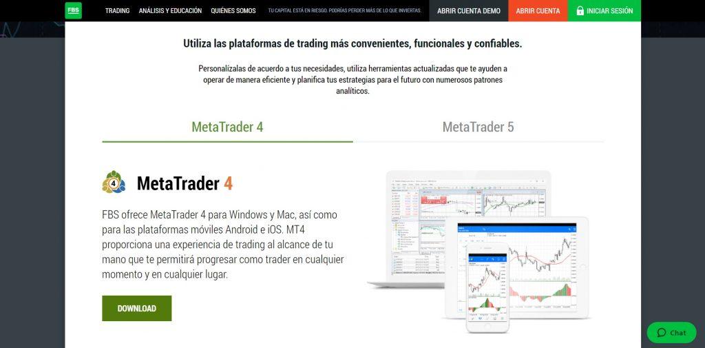 Utilice la plataforma MetaTrader más popular con FBS