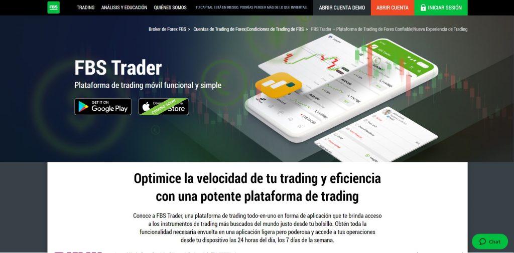 Descubra la potencia de la plataforma FBS Trader
