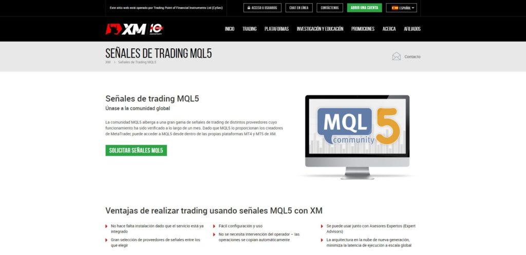 xm mql5 características