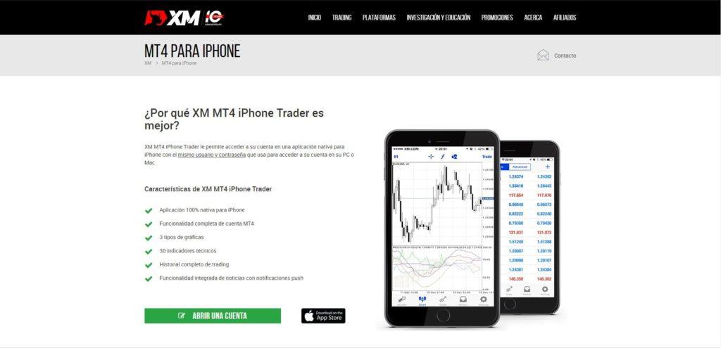xm mt4 para iphone