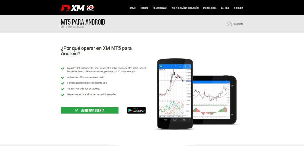 xm mt5 para android