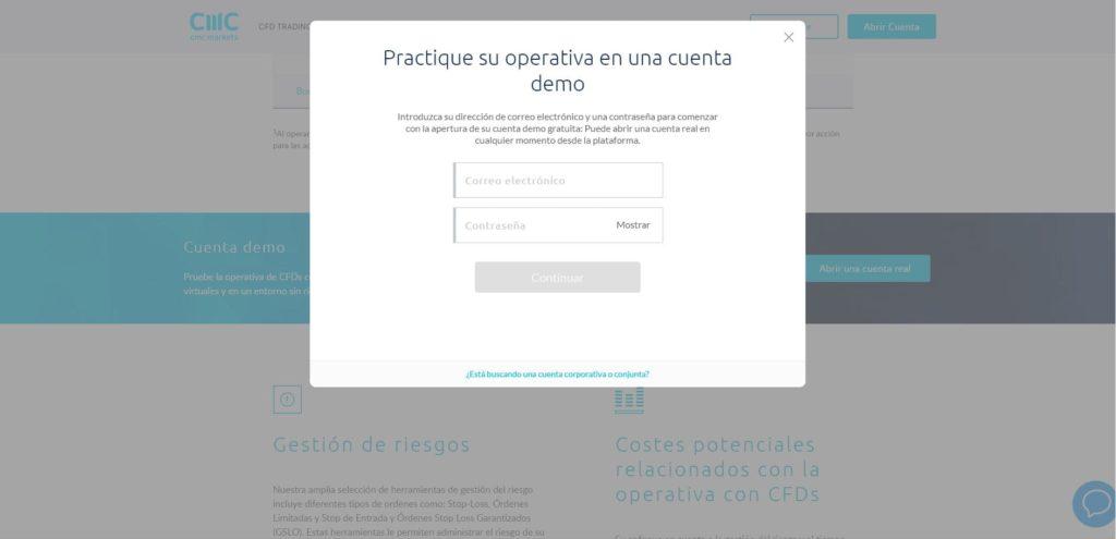 abrir una cuenta demo con cmc markets
