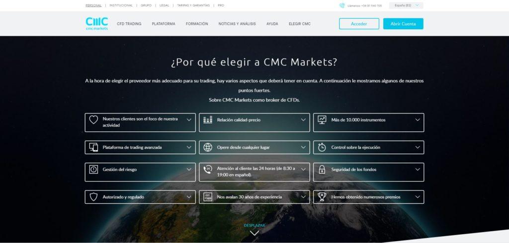por qué eligir cmc markets?
