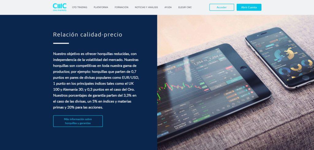 relaciòn calidad precio de cmc markets