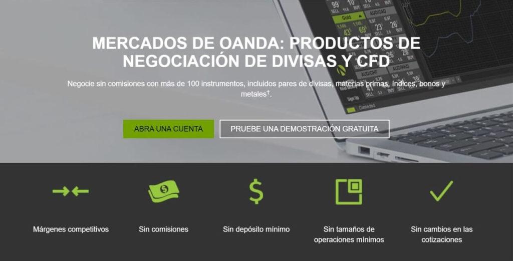 Los productos de negociacion de divisas y cfd de oanda