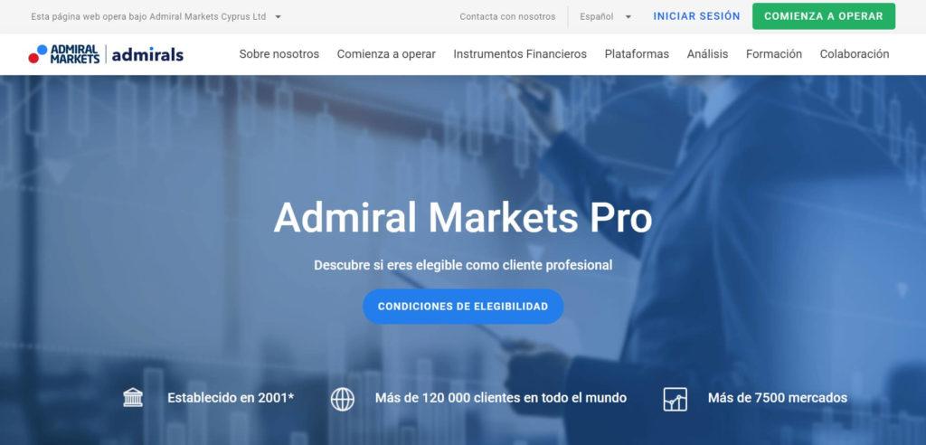 Descubre si eres eligible como cliente profesional con admiral markets
