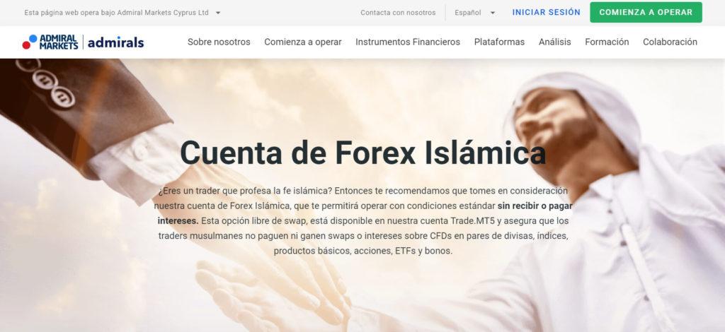 Descubre la cuenta de forex islamica de admiral markets