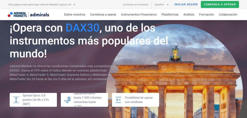 Opera con dax30 con admiral markets uno de los instrumentos mas populares del mundo