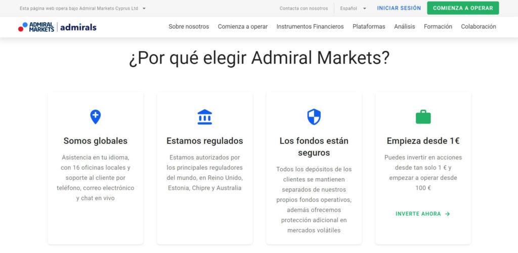 Por que elegir admiral markets