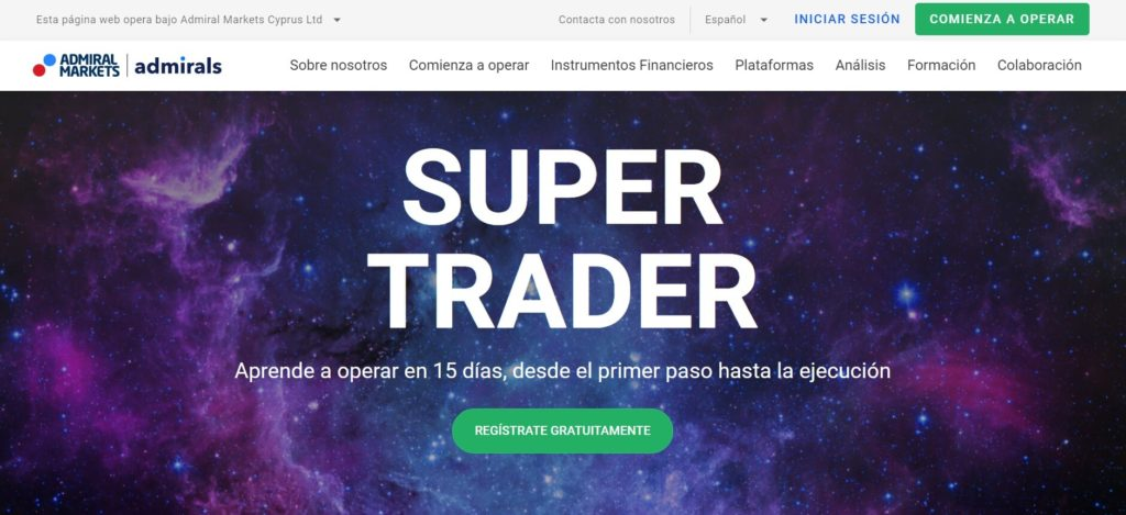 Aprende a operar con admiral markets