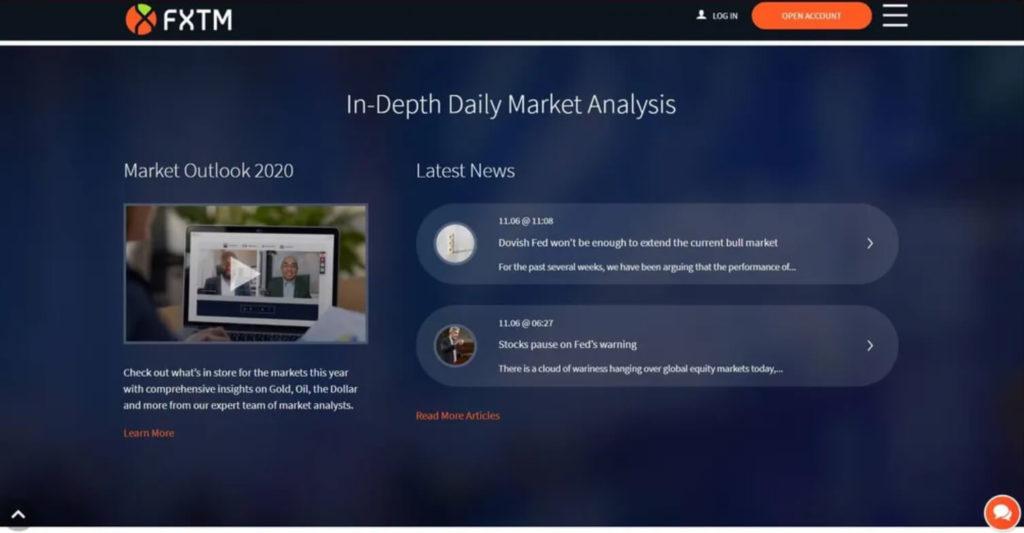 La vision profunda del mercado con fxtm