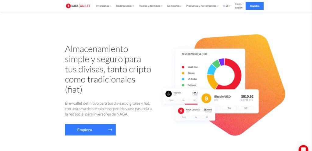 página web de naga crypto wallet