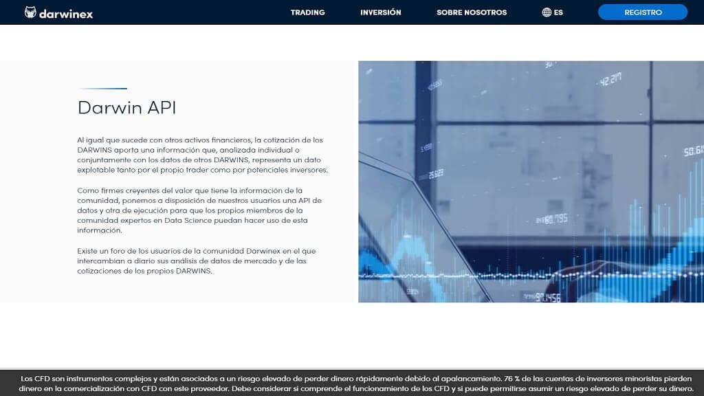 Los API disponibles con darwinex