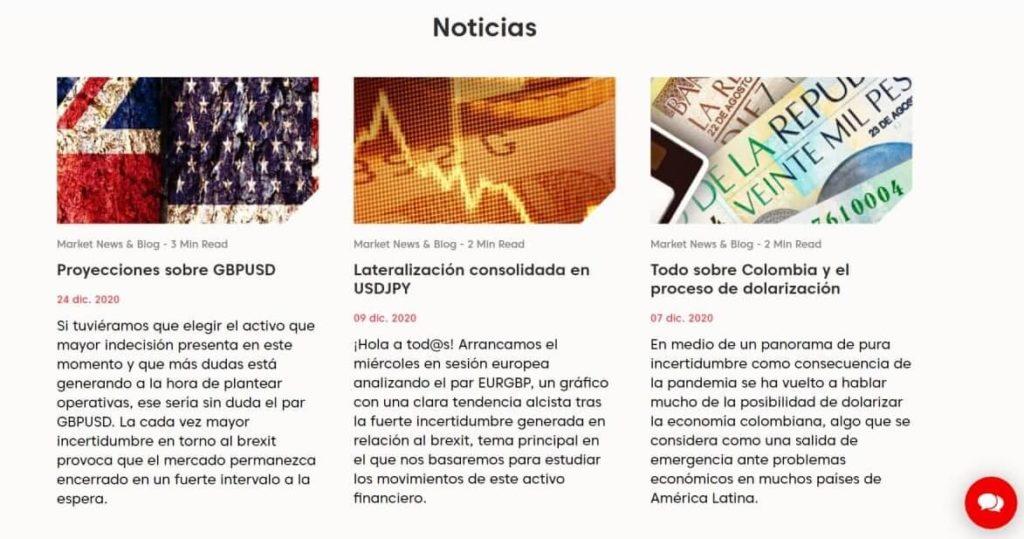 Las noticias de mercado con axi