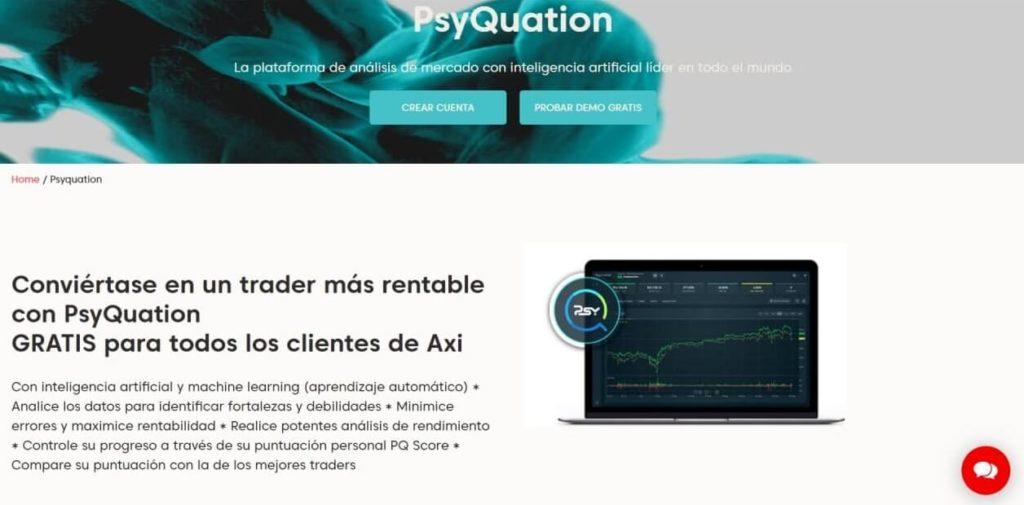 La plataforma de analisis de mercado de psyquation con axi