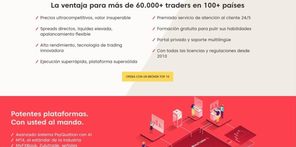 Las ventajas para los traders de axi