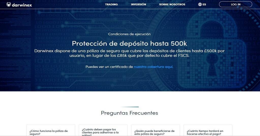 Darwinex dispone de una proteccion de deposito hasta 500k