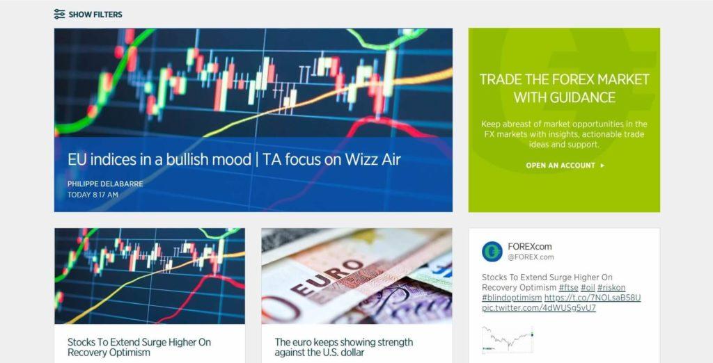 Los articulos de los mercados en forex.com