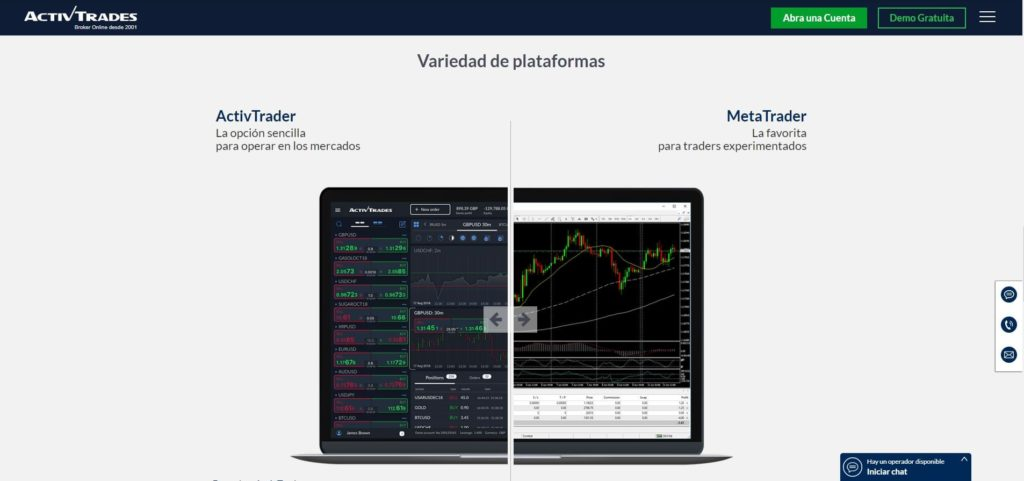 las plataformas de trading de activtrades