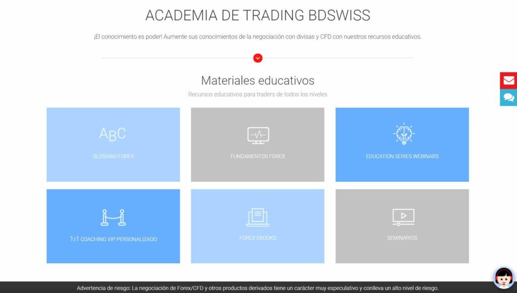 La academia de trading BDSwiss