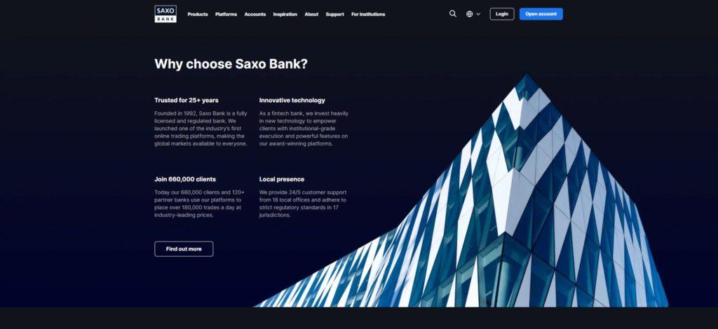 por qué eligir el broker saxo bank