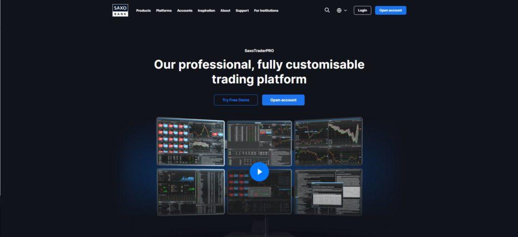 la plataforma SaxoTraderPRO de saxo bank