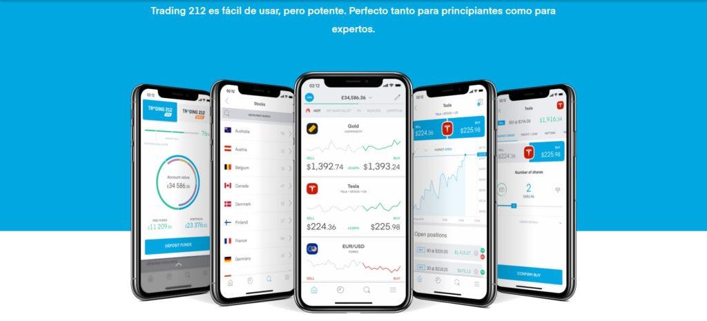 características de la aplicación de trading 212