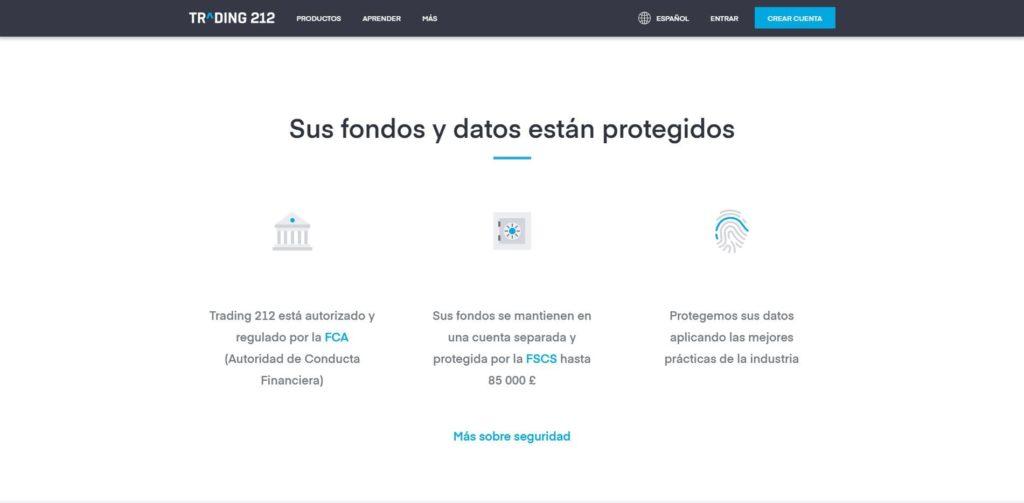 fondos y datos protegidos con trading 212