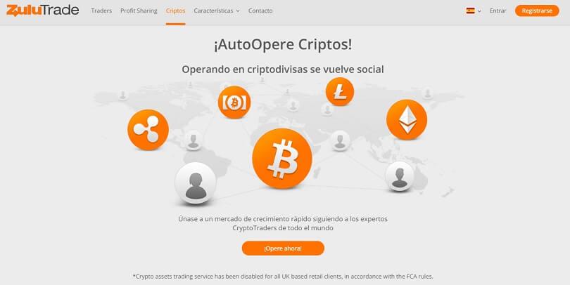 AutoOpere Criptos con ZuluTrade